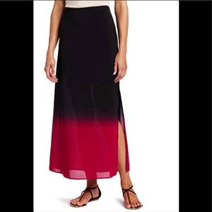 Vince Camuto | Black to Pink Ombré Maxi Skirt